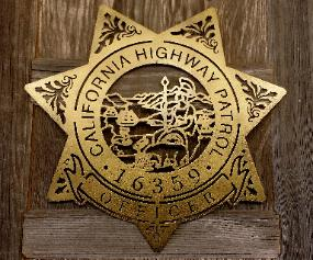 California Highway Patrol Badge Silhouette