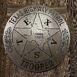 Texas Highway Patrol Badge Silhouette Texas Rustic Metal Art