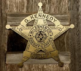 texas rustic metal art and law enforcement badges